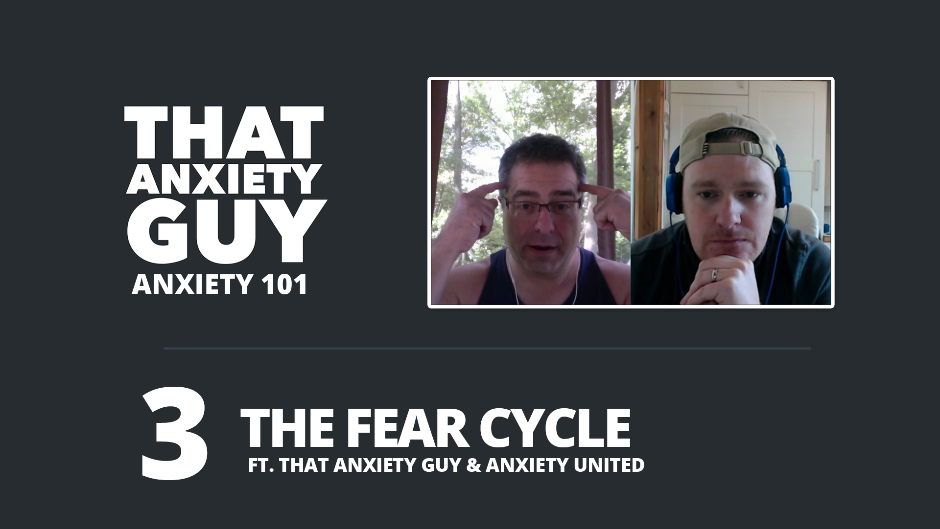 EP 028 – Anxiety 101 – Ep 03 – The Fear Cycle – W/Anxiety United